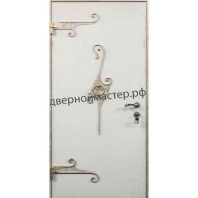 Белые металлические двери 1