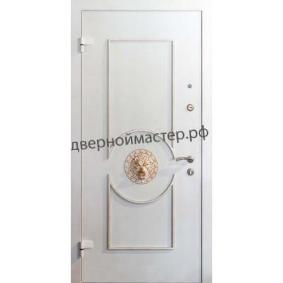 Белые металлические двери 2