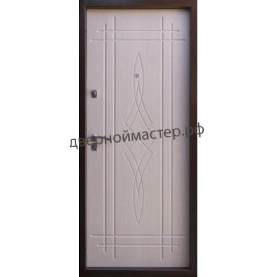 Белые металлические двери 4