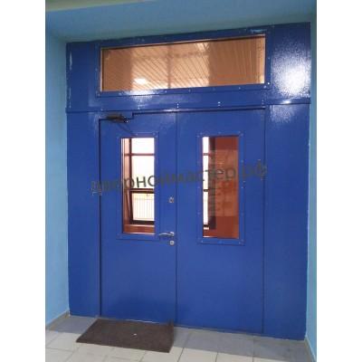 Двери металлические двустворчатые11