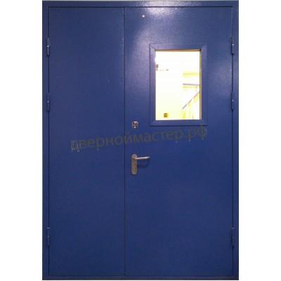 Дверь двупольная остекленная