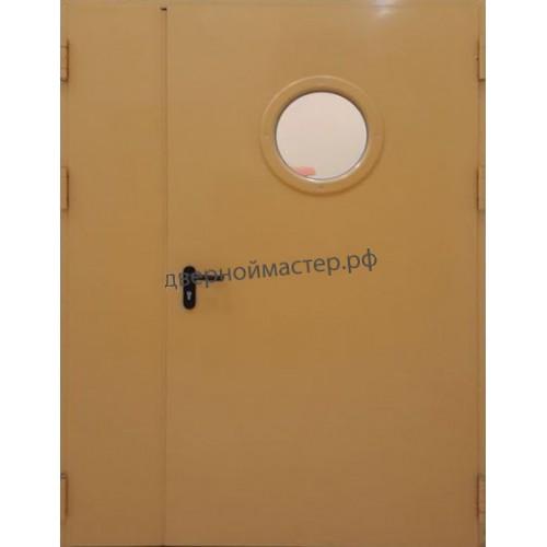 Дверь ДМ-868 с иллюминатором двупольная