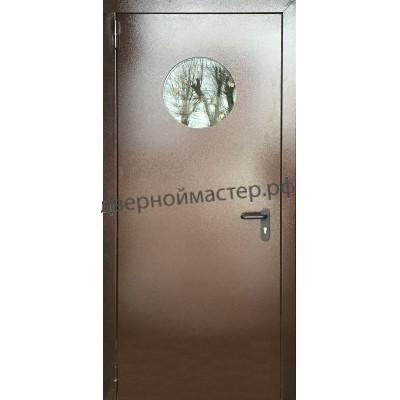 Дверь  противопожарная c  круглым окном ДМ-1083
