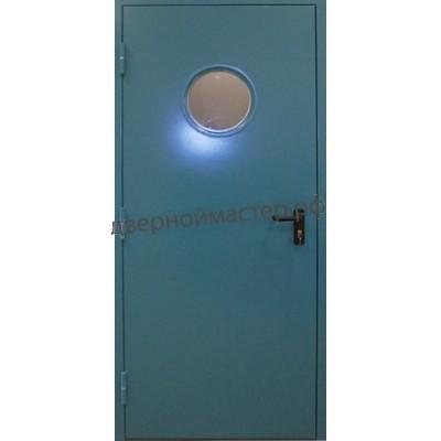 Дверь с иллюминатором однопольная