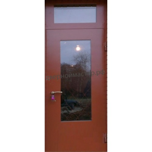 Металлические двери со стеклопакетом