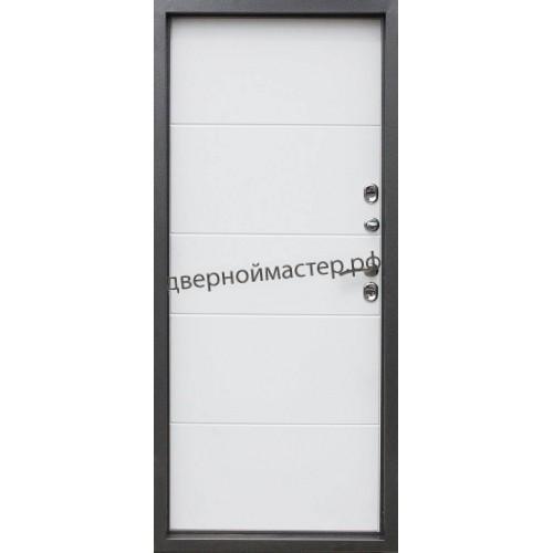 Входная дверь белая внутри с МДФ