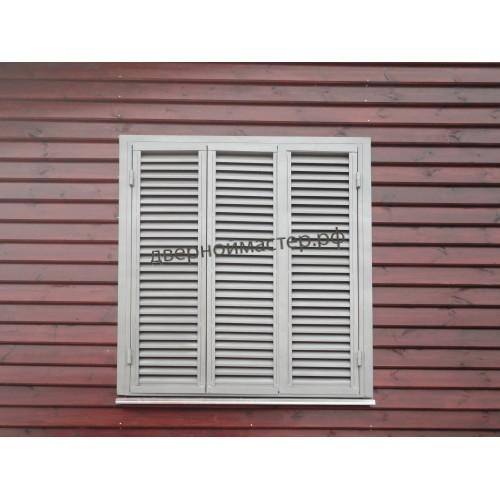 Трехстворчатые ставни жалюзи для широкого окна