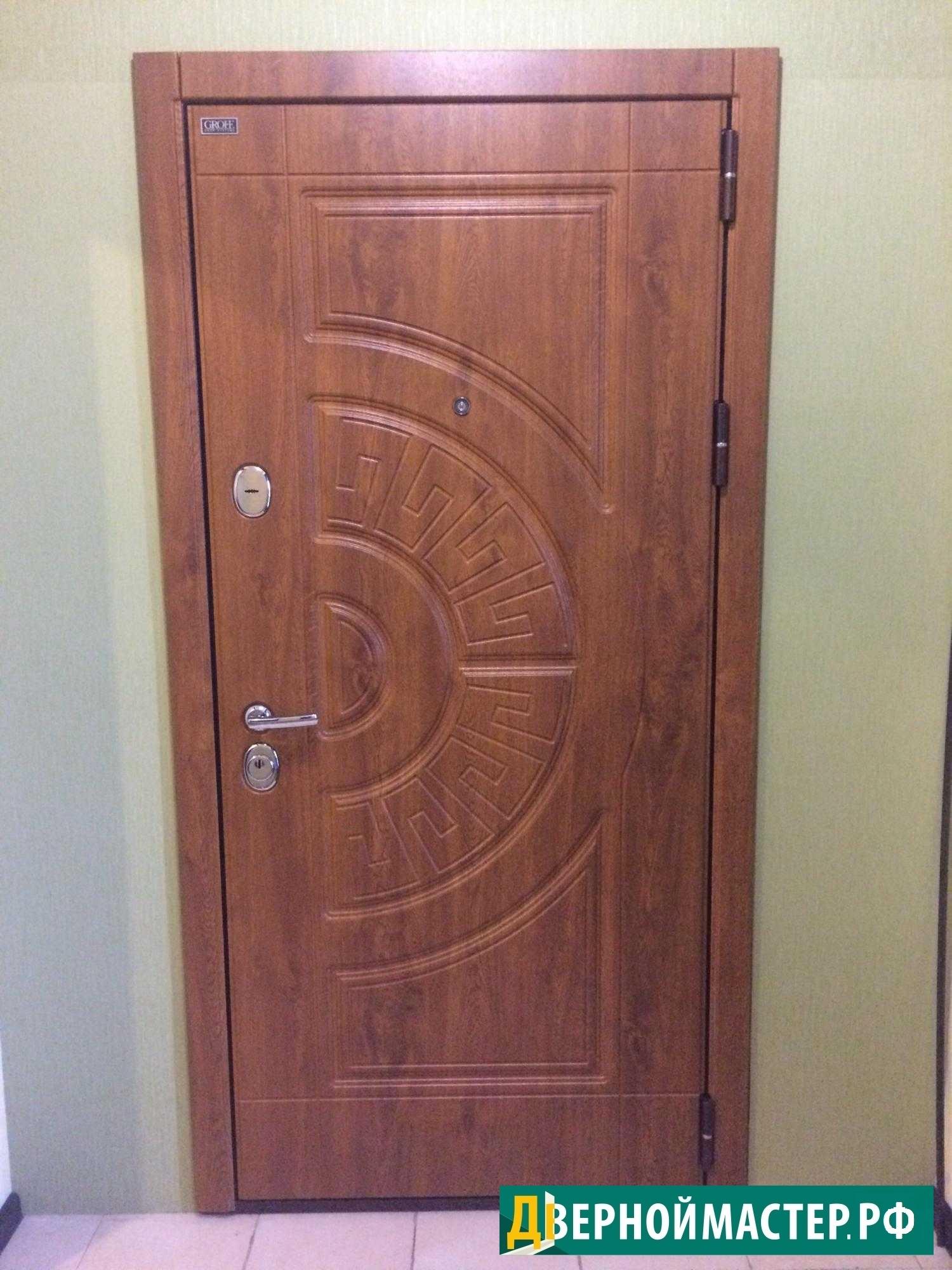Входная металлическая дверь в квартиру МДФ под пленкой ПВХ