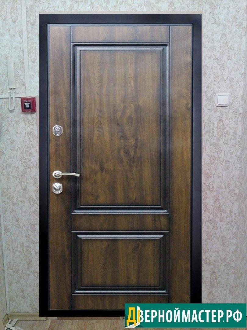 Купить железные двери в квартиру по выгодной цене с отделкой темным МДФ