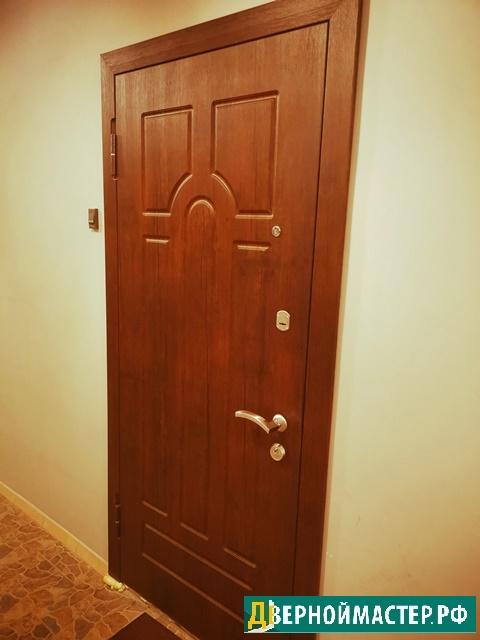 Теплые входные металлические двери в квартиру с МДФ купить в Москве по выгодной цене