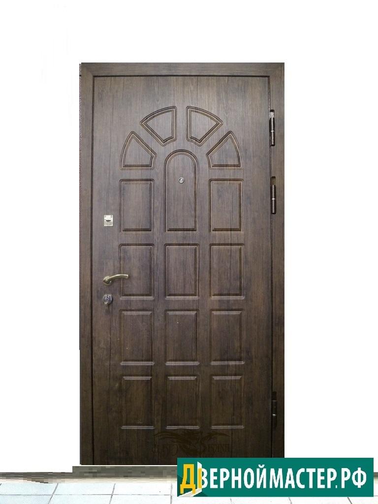 Недорогая металлическая дверь входная в квартиру с МДФ, до 25000 рублей