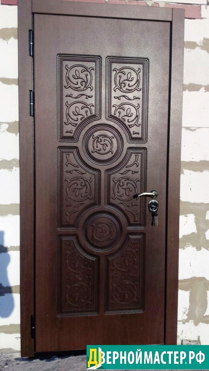 Металлическая дверь входная МДФ с резной панелью под пленкой Винорит