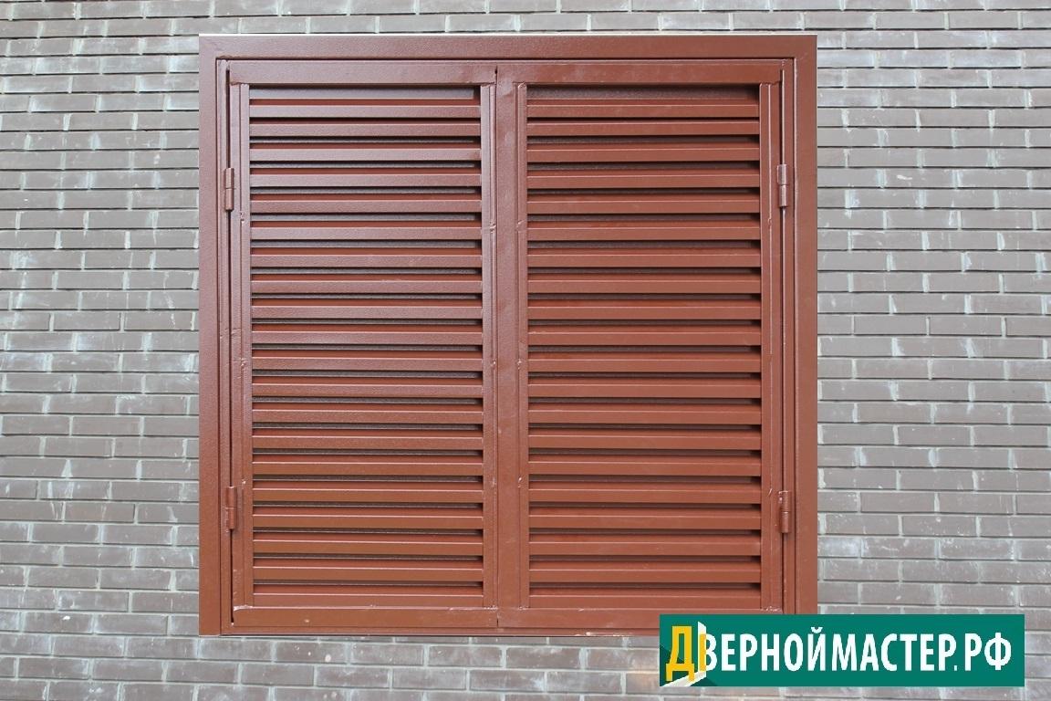 Купить металлические ставни в частный дом для защиты окон.