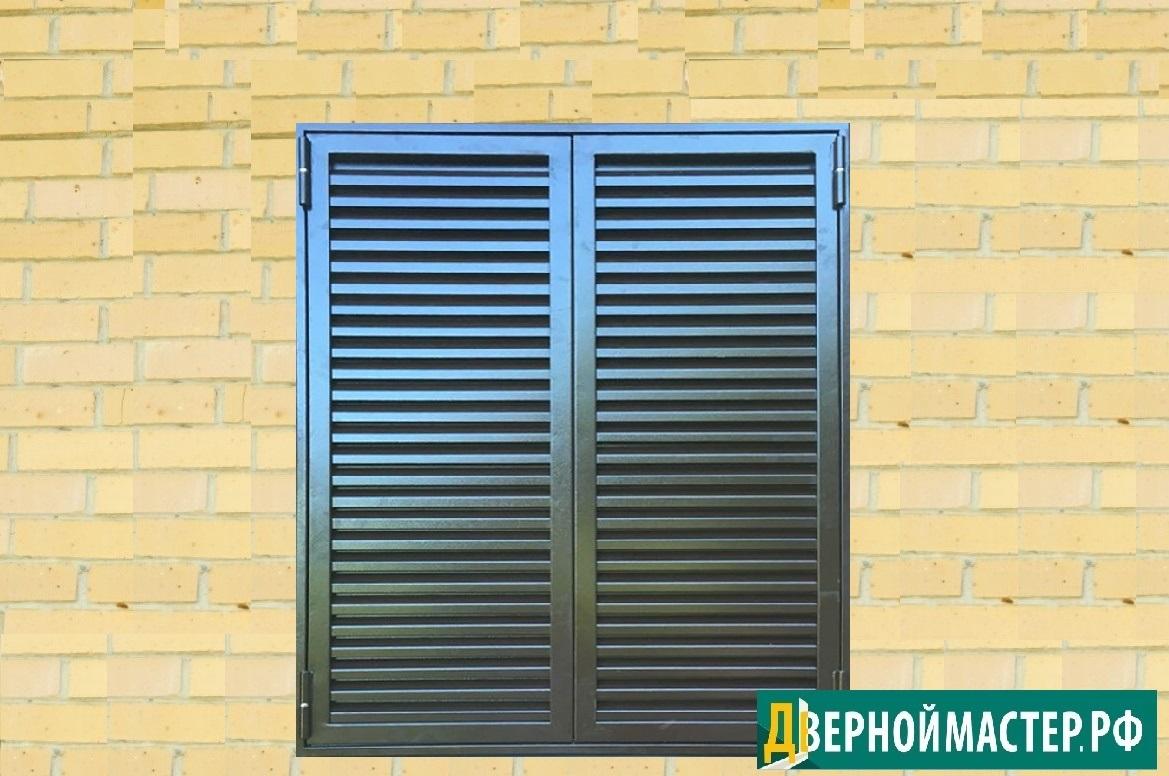 Металлические ставни на окна с окраской порошковым напылением.