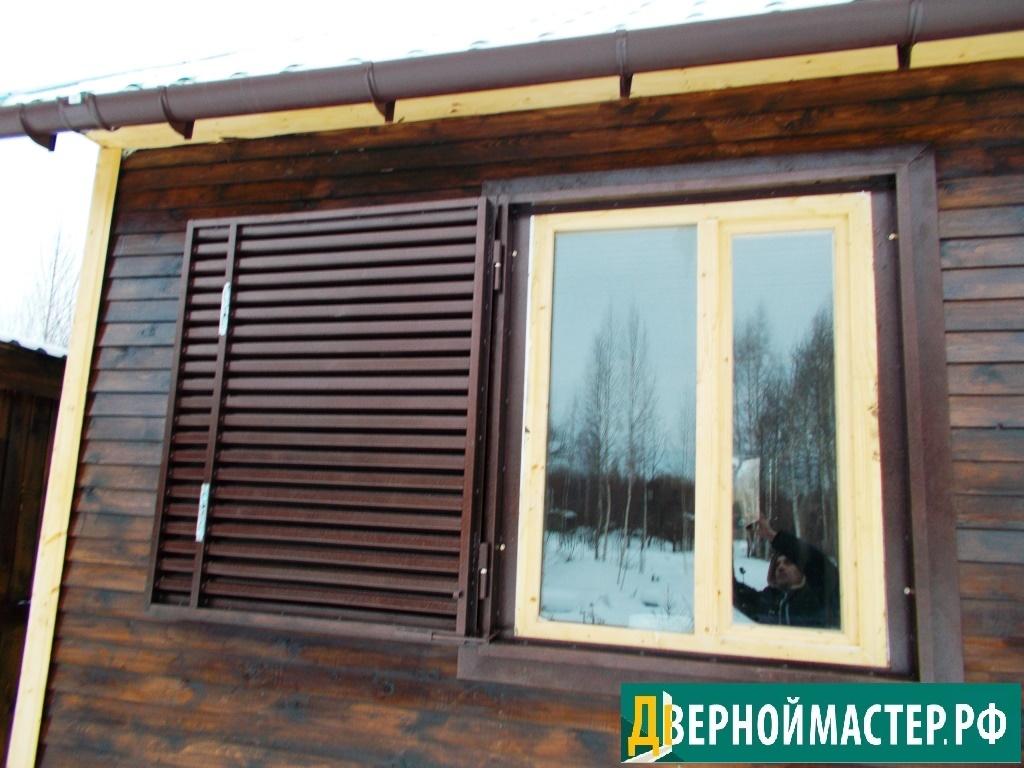 Ставни на окна от производителя выгодно, с открыванием на одну сторону