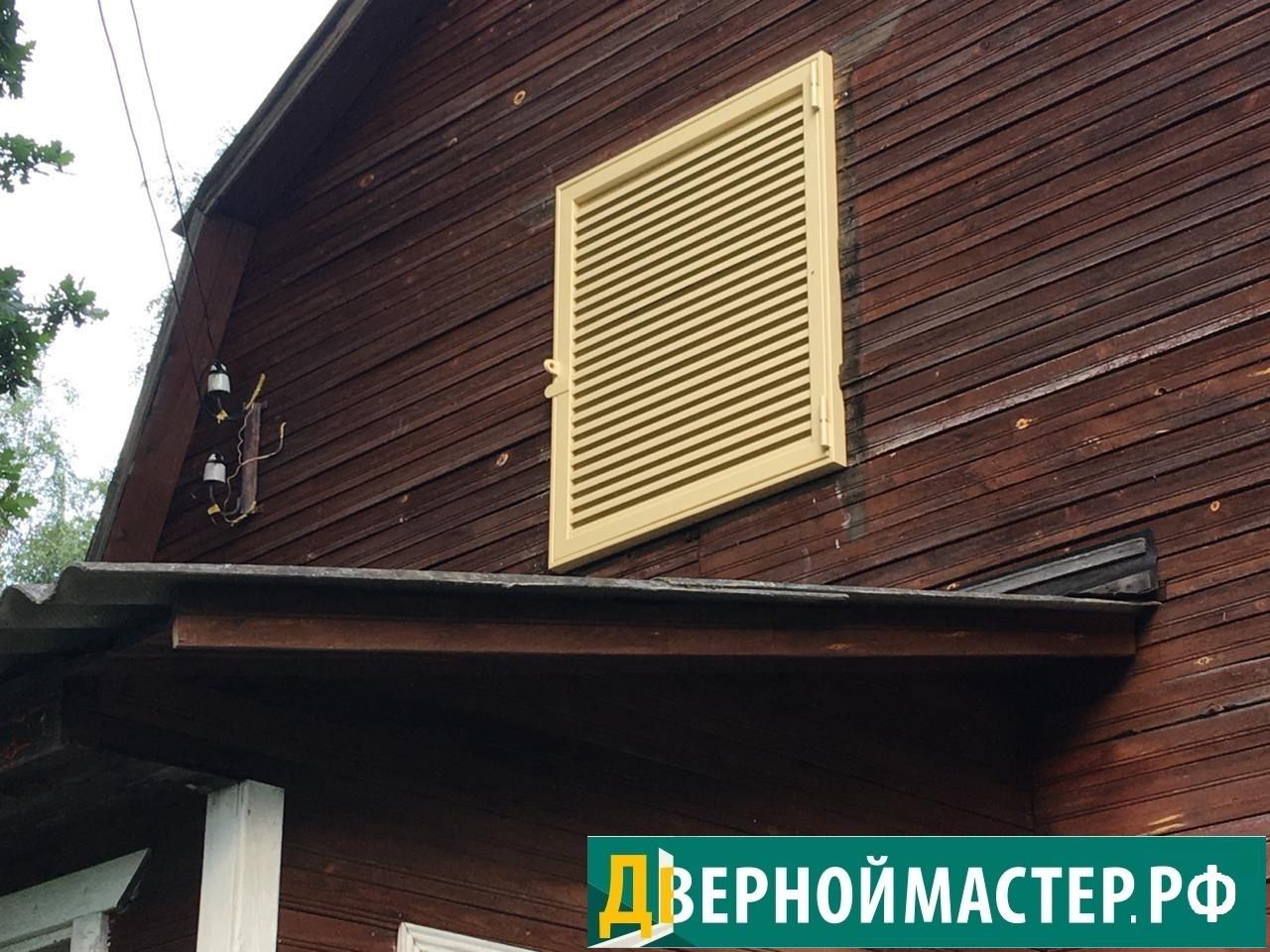 Одностворчатые металлические ставни на для дачи по выгодным ценам в Москве и области