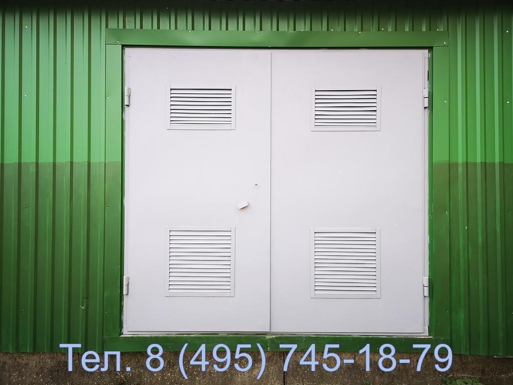 Стандартные трансформаторные ворота с встроенными жр (вент решетками)