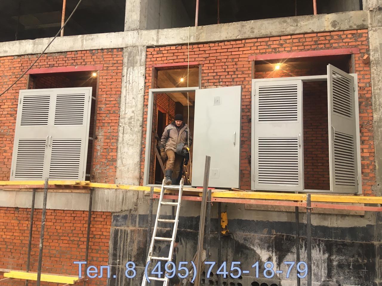 Установка металлических ворот для трансформаторной подстанции в жилом доме в г. Химки