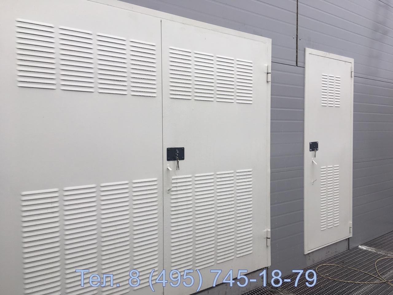 Дверь и ворота трансформаторные с перфорацией в листе для ПАО Роснефть, аэропорт Шереметьево