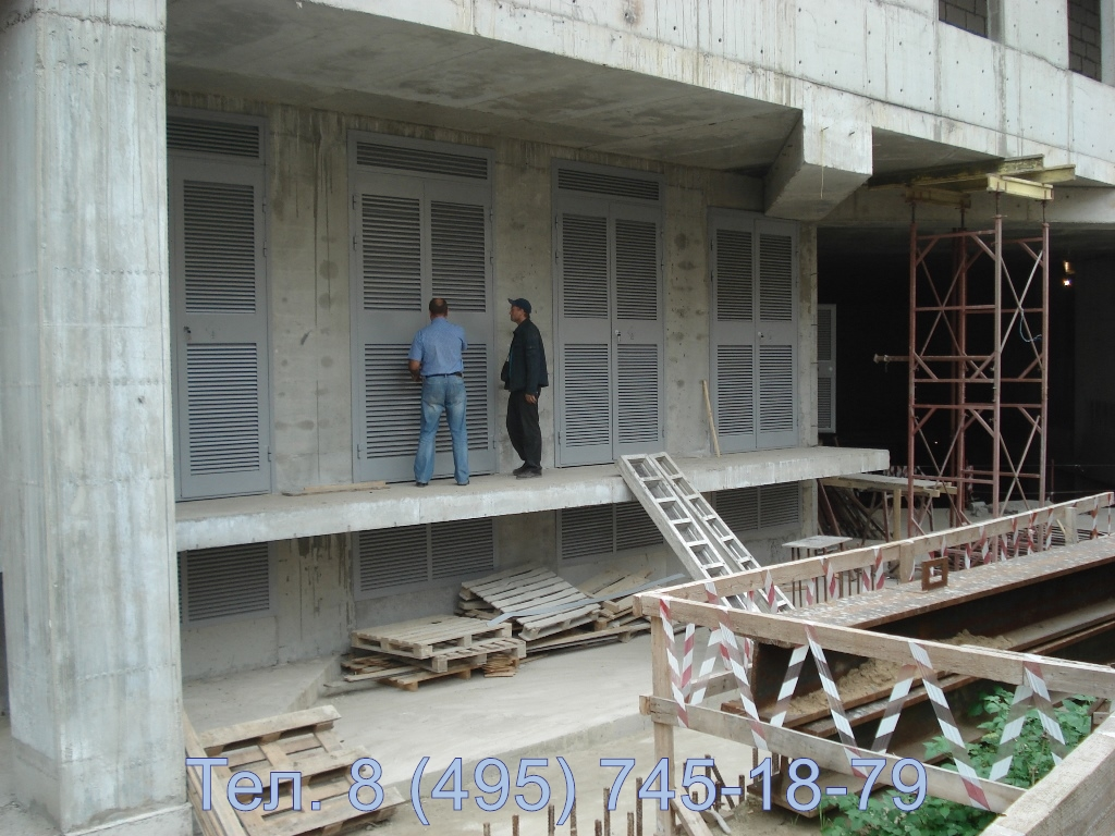 Ворота трансформаторных подстанций в РТП гостиницы Киевская